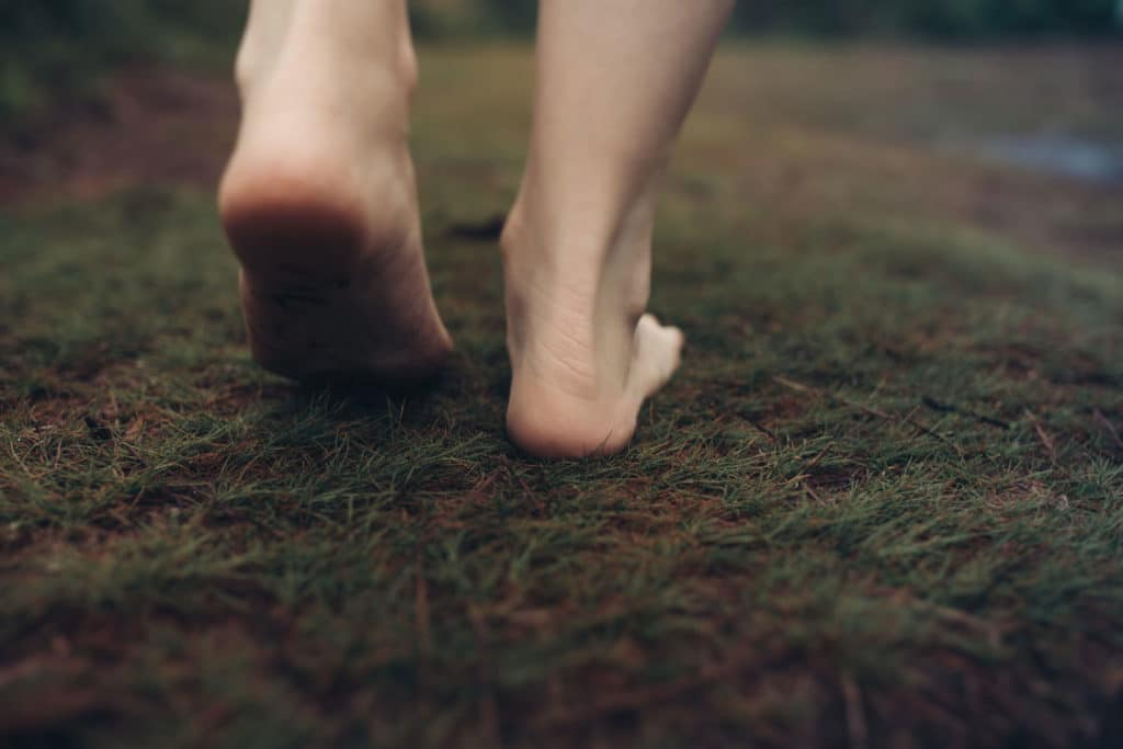 Empowered Princess - Princess Feet Walking on Moss