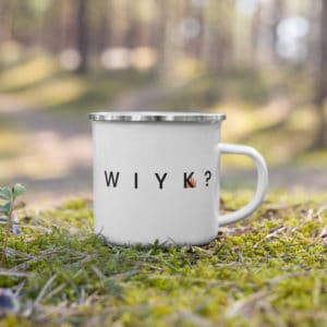 empowered princess mug with Where Is Your Kingdom with Rose Princess Castle in forest setting