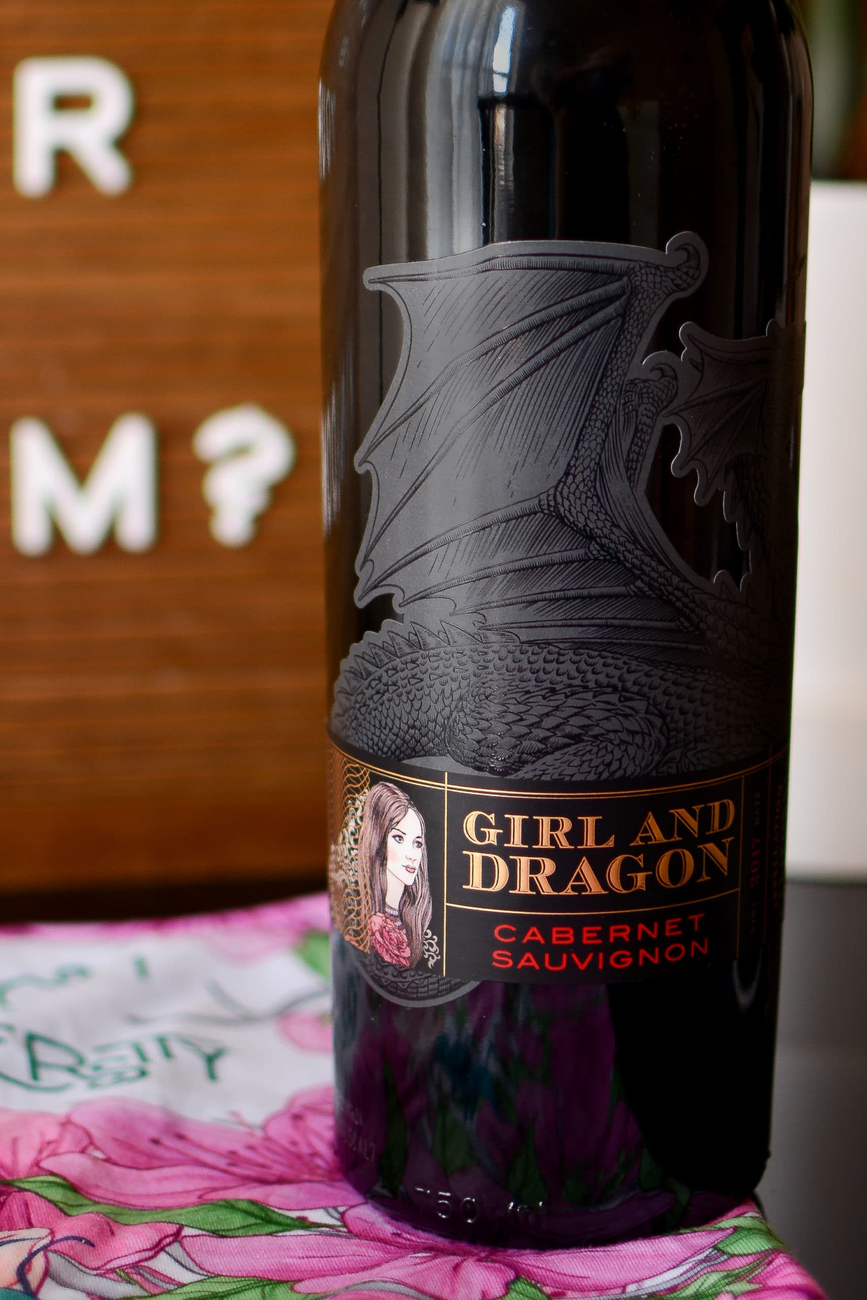 Empowered Princess Podcast Sleepover Series Mulan Girl and Dragon Wine Pairing Detail Picture